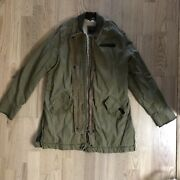 Abercrombie And Fitch Olive Green Parka Size M W/ Fleece Lining And Corduroy Detail