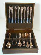 Supreme Cutlery Towle E P Korea Baroness Silverplate Dinner Spoons Serving Of 8
