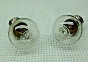 Two 461 Marx/american Flyer 14 Volt Dimple Light Bulbs For Revolving Beacon