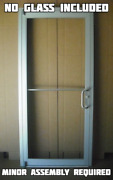 Commercial Aluminum Storefront Door Frame And Closer Custom Size Clear Finish