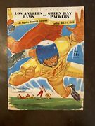 1955 Nfl Playoff Los Angeles Rams Green Bay Packers Football Programs Coliseum