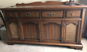 Vintage 1960s Magnavox Console Stereo Am/fm Radio Record Player W/ Orig Booklet