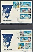 Qatar 1966 American Astronauts Perforated Stamps Set Of 8 Values On 2 Fdcand039s Rare