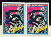 1990 Marvel Universe Series 1 Spiderman Trading Cards X2 1st Black Suit