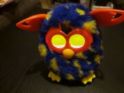 Furby Boom Blue Yellow Lightening Bolts 2012 Toy Tested Works