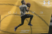 Stephen Curry Under Armour Curry 3 Vinyl Banner 65x47 Inches Really Nice
