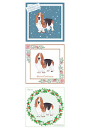 Basset Hound Christmas Card Choice Of 3 Choice Of 3 Cards Multi Pack