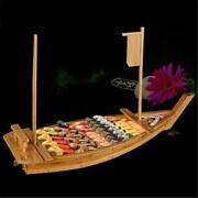 Large Tray Sushi Japanese Boats Wooden Wood Cuisine Plate Boat Handmade Tools Us