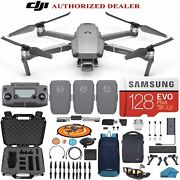 Dji Mavic 2 Pro Drone Quadcopter Fly More Combo With 3 Batteries 128gb Sd...