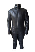 Real Leather Women Catsuit Padded For Discipline Mistress Black Gotic Cosplay