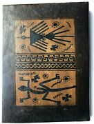 Vintage Genuine Leather Journal Paper Handmade Leather Bound 6 1/2 X 8 Tribal