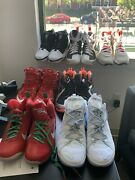 Lebron James Nike Collection. New 8 Pairs Size 14/15. Rare + Hard To Find Sizes