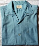 1960s Arrow Decton Menand039s Shirt Large Loop Collar Ss Exc