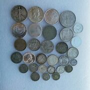Lot Of Various Silver Coins Collectible Currency