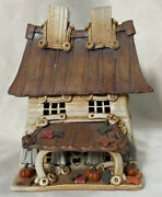 Windy Meadows Pottery House Autumn Leaves Country Lane Collection Retired