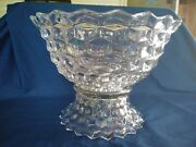Vintage Fostoria American Clear 14 Punch Bowl With Low Base