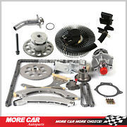 Timing Chain Evvt Kit Water Pump Fan Clutch Thermostat Housing Fit Chevrolet 4.2