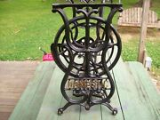 Antique Treadle Domestic Cast Iron Sewing Machine Base 1876 Table Steampunk