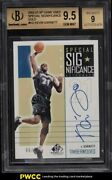 2002 Sp Game Used Special Significance Gold Kevin Garnett Auto /10 Bgs 9.5 Gem