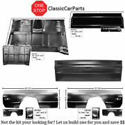 1967-1972 Chevy Pu Front Bed 8 Ft Bedsides Bed Cab Floor Blank Tailgate +