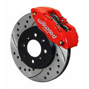 Wilwood For Honda / Acura Brake Kit Dpha Caliper And Rotor Drill Front Red
