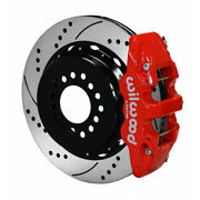 Wilwood For Ford Parking Brake Kit 14.00in Drill Red Big New Style 2.50in Offset