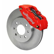 Wilwood For Honda / Acura Brake Kit Dpha Caliper And Rotor Front Red