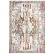 Mda Home Andros 5'x8' Abstract Transitional Fabric Area Rug In Red/multi