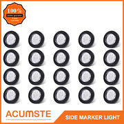 20pc 2 Round Led Marker Lights 9led Reflector Clear/red Kits Grommet/pigtail