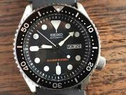 Seiko Diver Scuba Discontinued Day Date Automatic Mens Watch Authentic Working