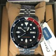 Seiko Skx009k2 Diver Scuba Day Date Navy Boy Automatic Mens Watch Auth Works
