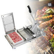 Manual Stainless Steel Mutton Kebab Machine Home Camping Bbq Meat String Skewer