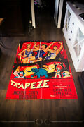 Trapeze Style A 4x6 Ft Vintage French Grande Movie Poster 1956