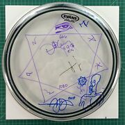 Tool - Band Signed Drum Head Merch Drawings By Adam Jones And Danny Carey
