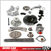 Timing Chain Water Oil Pump Fan Clutch Thermostat Housing Evvt Fit Chevrolet