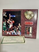 Michael Jordan Signed Photo With Certificate Of Authenticity And 45 Card