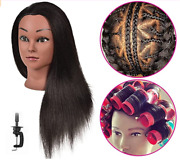 16 Inch 100 Real Hair Mannequin Training Head Styling Hairdresser Cosmetology