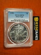 1992 1 American Silver Eagle Pcgs Ms70 Classic Blue Label Better Date