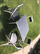 Outstanding Vintage Samsonite Black Folding Card Table And 4 Chairs Set Beautiful