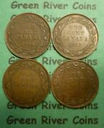 Canadian Large Cent Collection G5-4 King George V Better Grade Coins 4 Coins