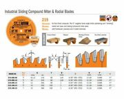 Industrial Ptfe-coated Sliding Compound Miter And Radial Saw Blades