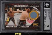 2009 Topps Ufc Round 1 Anderson Silva Mat Relic Rookie Rc Gold Patch /88 Bgs 9