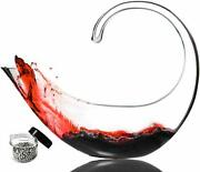 Scorpion Wine Decanter Lead Free Crystal Glass With Cleaning Beads,