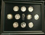 Franklin Mint's Official Coin Medals .999 Silver Of Indian Tribal Nations