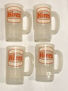 """4 1982 Hires Root Beer Proctor And Gamble Mail-in Plastic Mug 5 1/4"""" Rare"""