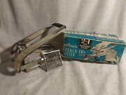 Vintage Ecko Miracle French Fry Cutter 2 In 1 Black Handle Great Condition