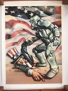 Rare Limited Edition Fallout Giclee Print Bos Helping Hand 192 Of 250 - Bethesda