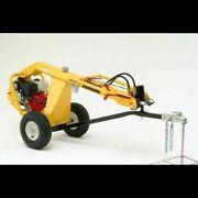 Used Towable Auger Ground Hog Hd99 Hydraulic Earth Drill-