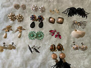 Lot Of Vintage Costume Jewelry Clip-on Earrings