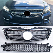 2pcs Silver Front Grille Air Intake Grill For 12-14 Mercedes Benz Cls Class W218